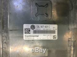09-12 VW Golf MK6 1.6 Tdi Diesel Manuel Moteur ECU Kit 03L907425C/03L997557P