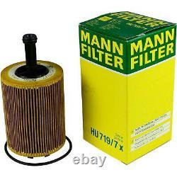 5L Mannol 5W-30 Break Ll + Mann-Filter VW Caddy III Boîte 1.9 Tdi 4motion