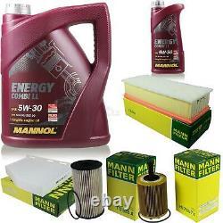 6L MANNOL 5W-30 Break Ll + Mann-Filter Pour VW Caddy III Boîte 1.9 Tdi