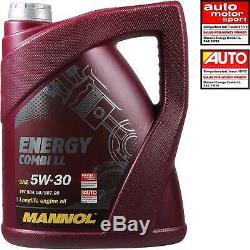 6L MANNOL 5W-30 Break Ll + Mann-Filter VW Caddy III Boîte 1.9 Tdi 4motion