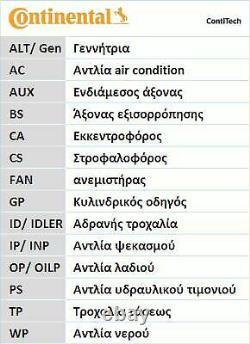 Continental Kit De Distribution Pour Audi A3 2.0 Tdi 16v, A4 2.0 Tdi 16v, 2.0 Tdi