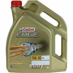 FILTRE DE KIT D'INSPECTION CASTROL 5 L HUILE 5W30 pour VW Golf VI 5K1 2.0 TDI