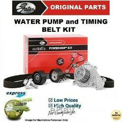 Gates Eau Pompe & Kit Courroie Distribution pour VW Golf VI 2.0TDi 2008-2013