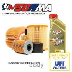 Huile Kit de découpe CASTROL EDGE 5W30 5LT FILTRES SOFIMA AUDI A3 2.0 TDI KF0022