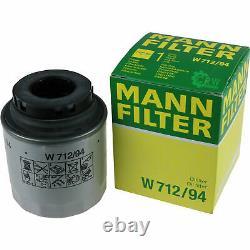 Huile moteur 5L MANNOL Diesel Tdi 5W-30 + Mann-Filter VW Passat 362 1.4