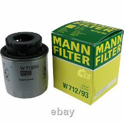 Huile moteur 5L MANNOL Diesel Tdi 5W-30 + Mann VW Touran 1T1