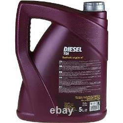 Huile moteur 5 L MANNOL Diesel TDI 5W-30+ MANN-FILTER VW Golf IV Cabriolet 1E7