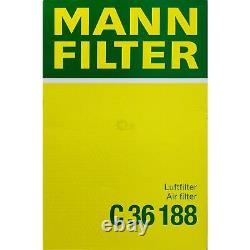 Huile moteur 6L MANNOL Diesel Tdi 5W-30 + Mann Filtre Luft Audi A3 8P1 3.2