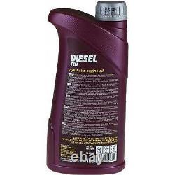 Huile moteur 8L MANNOL Diesel Tdi 5W-30 + Mann-Filter filtre Audi A3 8L1 1.9