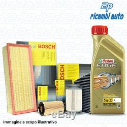 Kit 4 Filtres Bosch + Huile de Moteur Castrol Edge 5W30 5 Lt Audi A3 Sb 1.9 Tdi