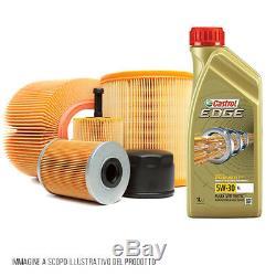 Kit 4 filtres et 5 litres huile de moteur Castrol Edge 5W30 AUDI A3 1.6 TDI