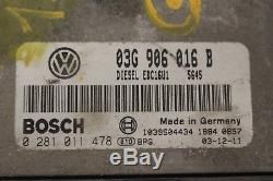 Kit démarrage complet neiman compteur Volkswagen Golf 5 V 1.9Tdi 105ch type BKC