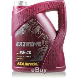 MANNOL 5L Extreme 5W-40 huile moteur + Mann-Filter VW Golf III 1H1 1.9 Tdi
