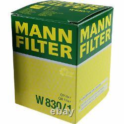 MANN-FILTER Set Air Intérieur Huile Carburant pour VW Golf III 1H1 1.9 Tdi Vento