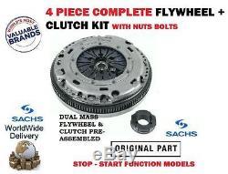 POUR VW GOLF+PLUS 1.6 TDi 90 105BHP 09-10 VOLANT MOTEUR BIMASSE+KIT EMBRAYAGE