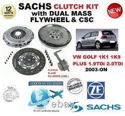 Pour VW Golf 1K1 1K5 Plus 1.9 2.0 Tdi Kit Embrayage 2003-ON Avec Volant Csc Vis