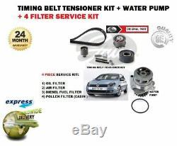 Pour VW Golf Mk5 140bh 2.0tdi Pompe à Eau + Kit Courroie Distribution +