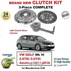 Pour VW Golf Mk VI 2.0TDi 4motion 2011-2016 Neuf 3PC Kit Embrayage avec Csc