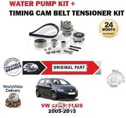 Pour VW Golf Plus 1.6 2.0 Tdi 16V 2005-2013 Kit Courroie Distribution + Eau