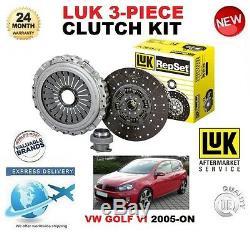 Pour VW Golf VI + Plus 1.6 2.0 Tdi + 16V 4Motion 2005-ON Kit Embrayage Luk 3
