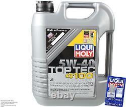 Révision Filtre LIQUI MOLY Huile 5L 5W-40 Pour VW Touran 1T1 1T2 2.0 Tdi 16V