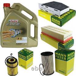 Sketch D'Inspection Filtre Castrol 5L Huile 5W30 Pour VW Golf VI 5K1 2.0 Tdi
