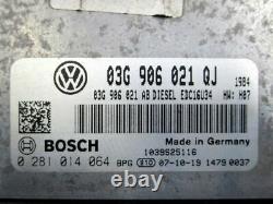 VW Golf V (1K1) 1.9 Tdi Commande Moteur 03G906021QJ 0281014064 Set de Serrures