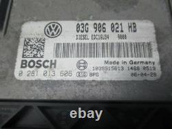 VW Golf V 5 (1K1) 1.9 Tdi Unité de Commande Moteur 03G906021HB Set Serrures