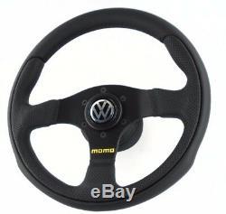 Véritable Momo Équipe 300mm Volant Cuir, Moyeu Kit Et VW Corne. Volkswagen