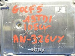 Volkswagen Golf 5 1.9 Tdi 105cv Kit Calculateur Moteur 0281013226 03g906021 Kh