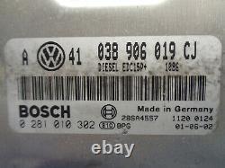 Vw Golf 4 1.9 Tdi Kit Calculateur Moteur Bosch 0281010302 038906019 Cj